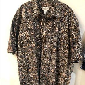 Mens Aloha Shirt 2XL